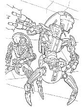 Robots attack to colour