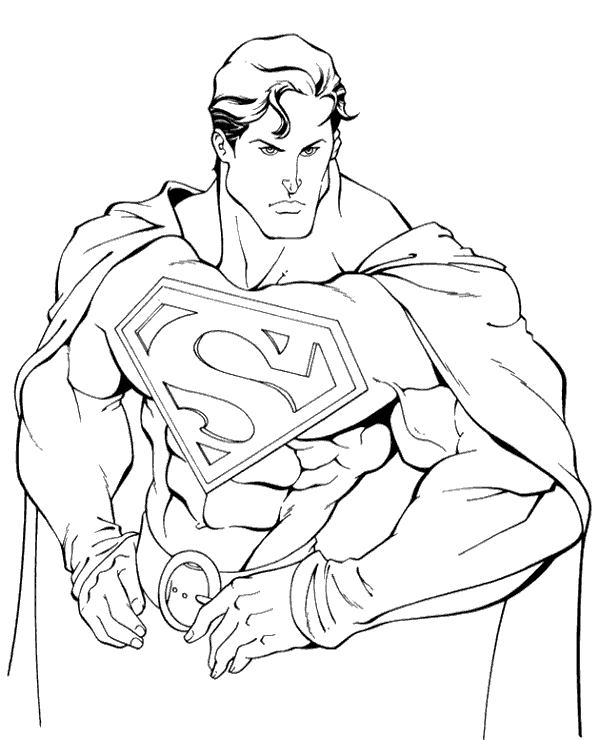 Superman Colouring Page 21 To Print Or Download For Free