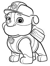 Paw Patrol coloring sheet