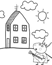 Printable Peppa Pig Coloring Pages For Free George Topcoloringpages Net