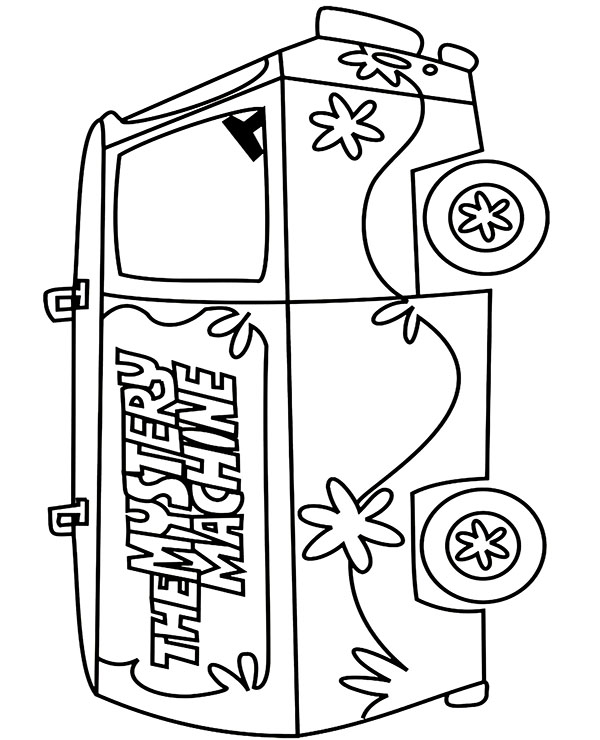 the mystery machine coloring page  topcoloringpages