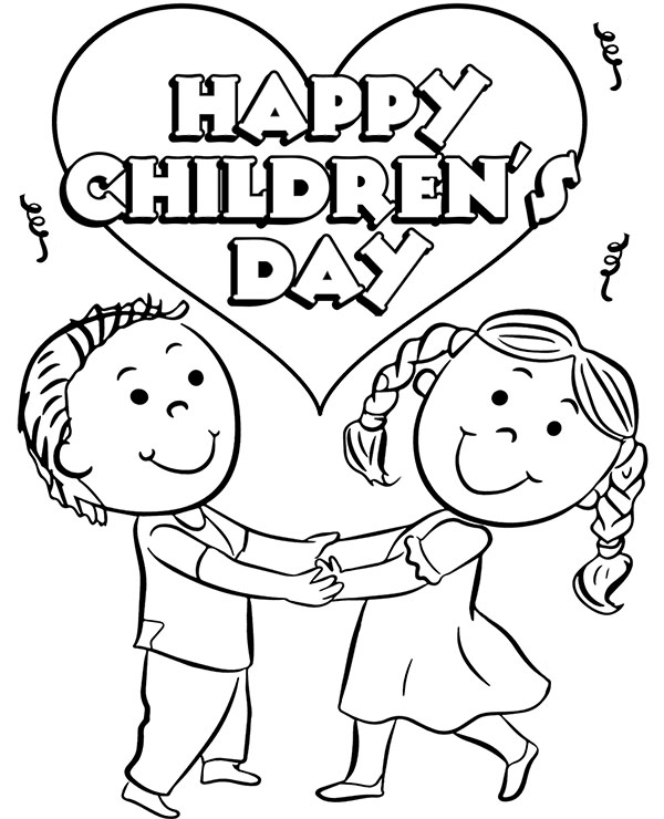 High Quality Childrens Day Coloring Sheet To Print For Free