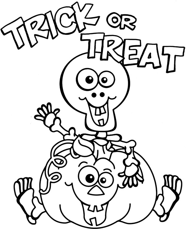 trick or treat coloring page halloween picture for coloring