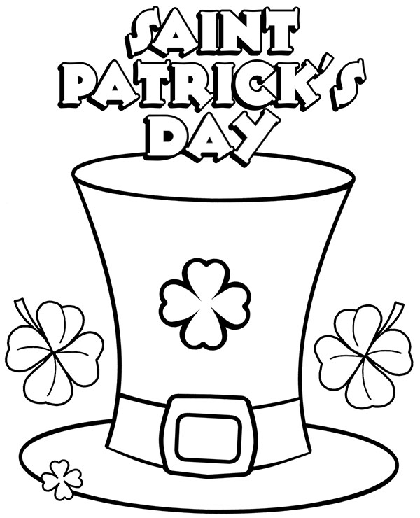 Saint Patrick S Day Coloring Page Sheet For Children