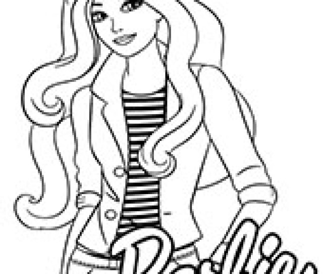 Barbie Coloring Pages For Girls Topcoloringpages Net