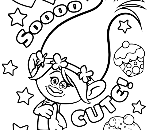 Trolls Coloring Page Poppy Topcoloringpages Net