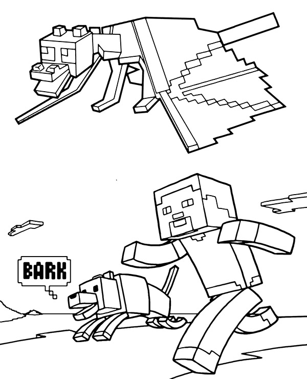 ender dragon coloring page minecraft  topcoloringpages