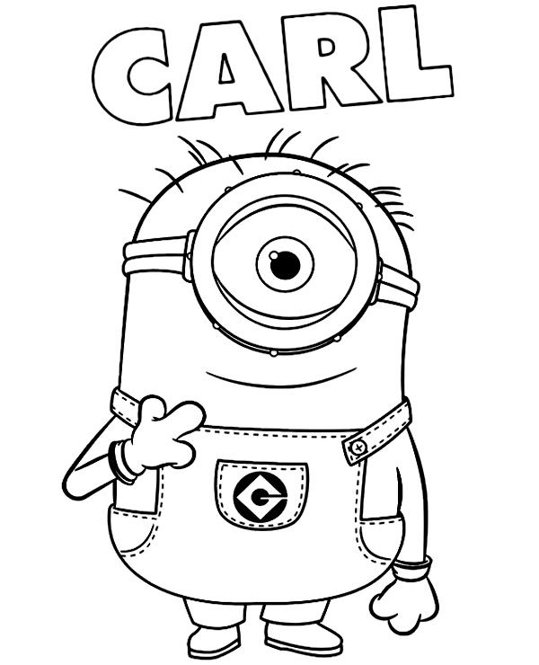 Minions Coloring Page Carl Topcoloringpages Net