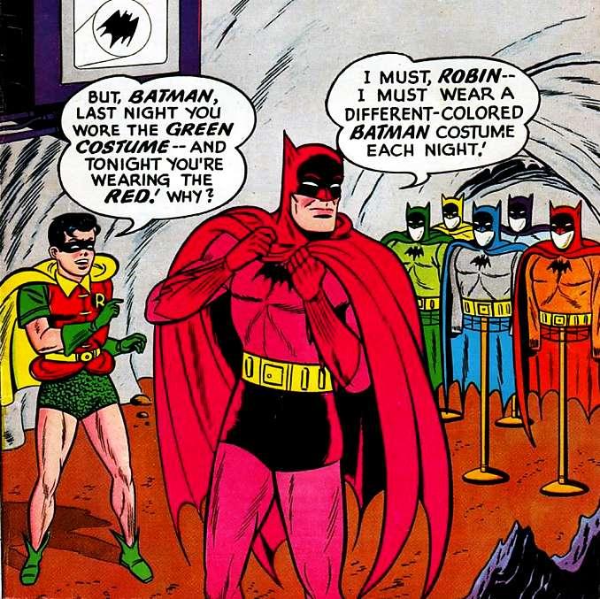 Batman dans son costume arc-en-ciel