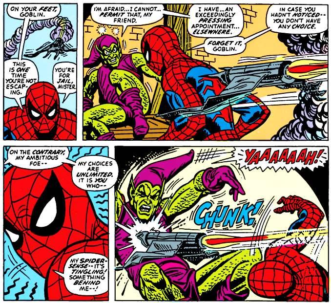combat Spider-Man Bouffon Vert