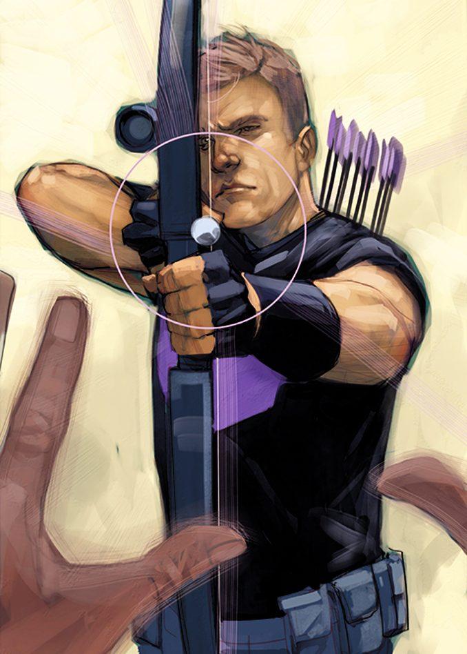 persos appelés Hawkeye clint barton