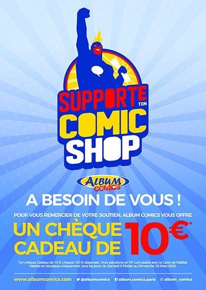 supporte ton comics shop album