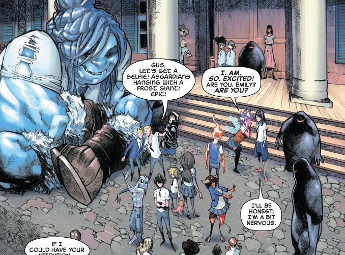 strange academy harry potter marvel comics