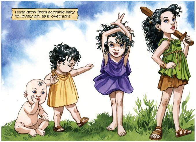 Wonder Woman True Amazon jill thompson jeunesse Diana DC COmics