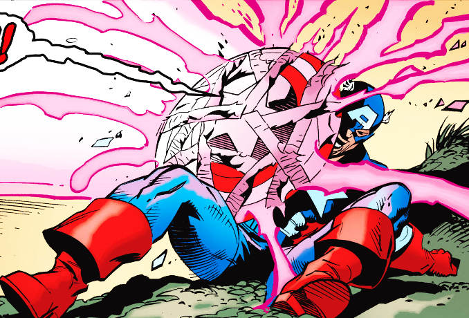 bouclier Captain America brisé