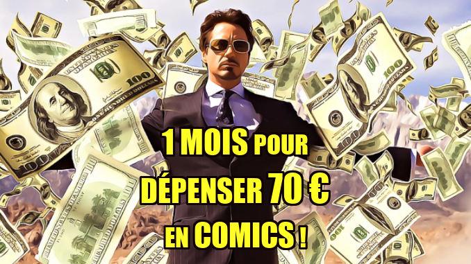 comics sélection budget 70 €