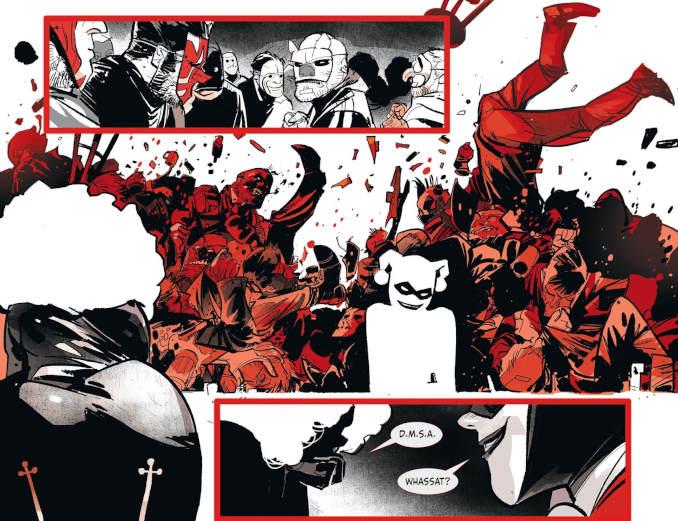 Harley Quinn Black White Red
