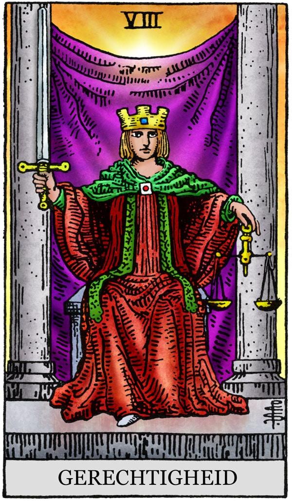 Gerechtigheid Tarotkaart