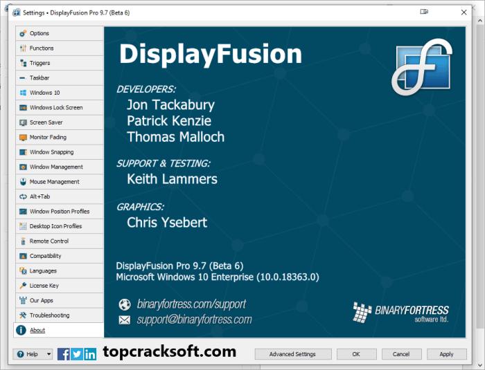 DisplayFusion Pro License Key Torrent 2021