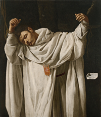 Francisco de Zurbarán Spanish, 1598–1664 Saint Serapion, 1628 Oil on canvas; 47 5/16 x 40 15/16 in. Wadsworth Atheneum Museum of Art The Ella Gallup Sumner and Mary Catlin Sumner Collection Fund, 1951.40