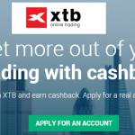 XTB dash broker cashback
