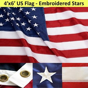 ANLEY-Heavy-Duty-American-US-Flag-4x6-Foot-Nylon-Embroidered-Stars-and-Sewn-Stripes-4-Rows-of-Lock-Stitching-USA-Banner-Flags-with-Brass-Grommets-4-X-6-Ft-0