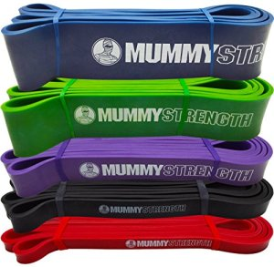Blue-SINGLE-BAND-MummyStrength-Pull-Up-Assist-Resistance-Bands-Perfect-For-Pull-ups-Chin-ups-Muscle-Ups-Ring-Dips-Gymnastics-CrossFit-Power-Lifting-all-Serious-Fitness-Programs-41-Loop-Pullups-MummySt-0