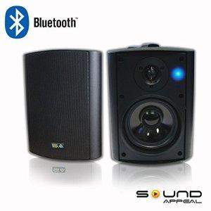 Bluetooth-525-IndoorOutdoor-Weatherproof-Patio-Speakers-Black-pair-by-Sound-Appeal-0