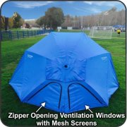 EasyGo-Products-Brella-the-Ultimate-2-in-1-Umbrella-Shelter-Beach-Cabana-Tent-Sun-Shelter-Sets-Up-in-Seconds-Blue-0-1