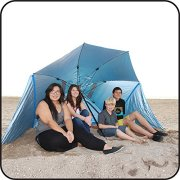 EasyGo-Products-Brella-the-Ultimate-2-in-1-Umbrella-Shelter-Beach-Cabana-Tent-Sun-Shelter-Sets-Up-in-Seconds-Blue-0-4