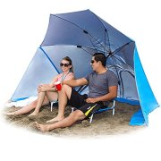 EasyGo-Products-Brella-the-Ultimate-2-in-1-Umbrella-Shelter-Beach-Cabana-Tent-Sun-Shelter-Sets-Up-in-Seconds-Blue-0
