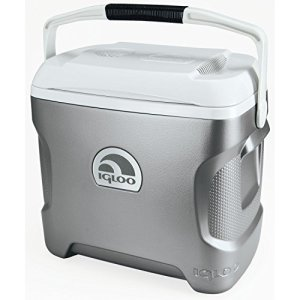 Igloo-Iceless-Thermoelectric-Cooler-SilverWhite-28-Quart-0