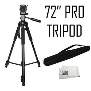 Professional-72-inch-Tripod-3-way-Panhead-Tilt-Motion-with-Built-In-Bubble-Leveling-for-Canon-Nikon-Sony-Pentax-Sigma-Fuji-Olympus-Panasonic-JVC-Samsung-Cameras-Camcorders-0