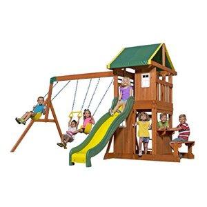 Backyard-Discovery-Oakmont-All-Cedar-Wood-Playset-Swing-Set-0