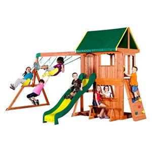 Backyard-Discovery-Somerset-All-Cedar-Wood-Playset-Swing-Set-0
