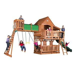 Backyard-Discovery-Woodridge-II-All-Cedar-Wood-Playset-Swing-Set-0