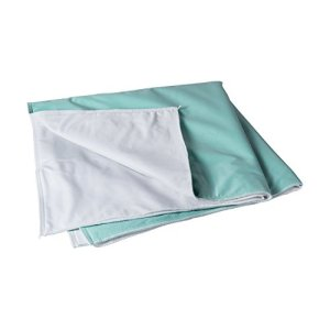 DMI-Incontinence-Pad-Reusable-Slide-Sheet-Quilted-Bed-Transfer-Sheet-4-Ply-36-x-40-Inches-Green-0