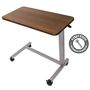 Eva-Medical-Adjustable-Overbed-Table-with-wheels-Hospital-and-Home-Use-0
