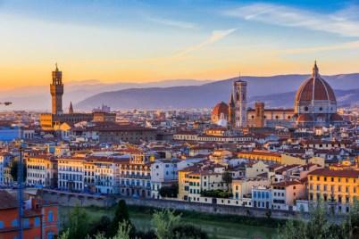 Florencia, Taliansko Najkrajšie mesto