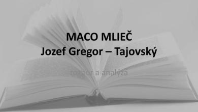 Jozef Gregor Tajovský – Maco Mlieč