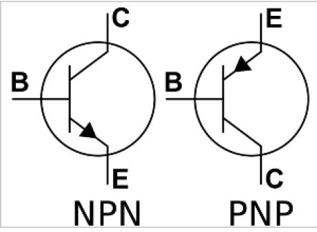 schema bipolarnych tranzistorov