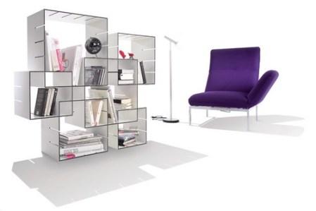 Konnex Slot-in Bookcase Dizajn domácej knižnice