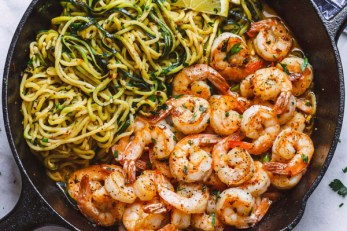 Cuketove-spagety-s-krevetami 10 jedál na chudnutie