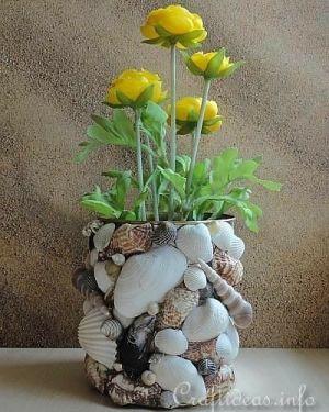 Kvetináče z morských mušlí
