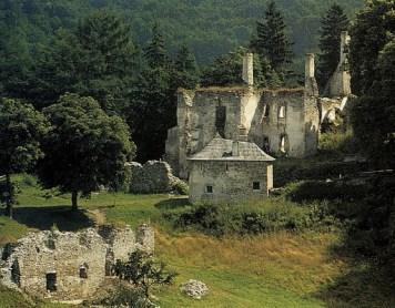 Hrad Sklabiňa Zrúcaniny hradov  Slovensku