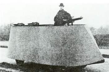 Motor War Car, 1899 Divné vojenské vozidlá