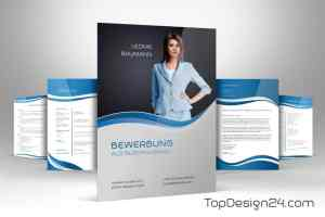 Bewerbungsvorlage Deckblatt, Lebenslauf, Anschreiben, Dritte-seite