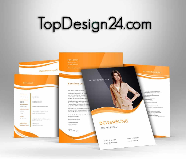 Bewerbungsvorlagen—orange–TopDesign24