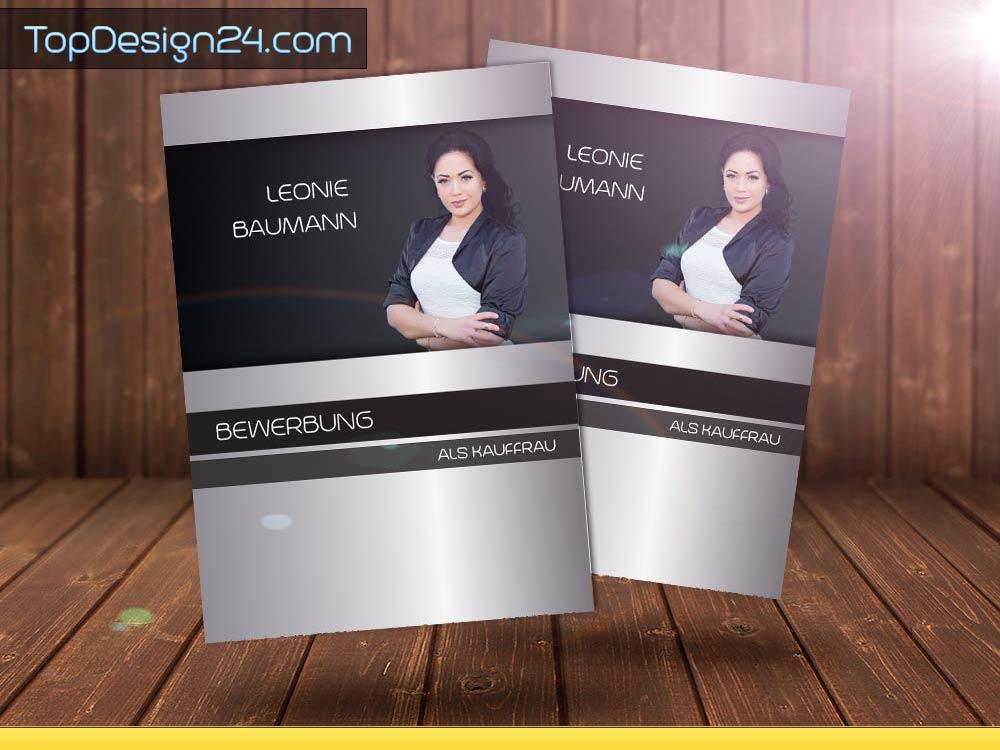 Design Bewerbung - Deckblatt Word Vorlage 2015