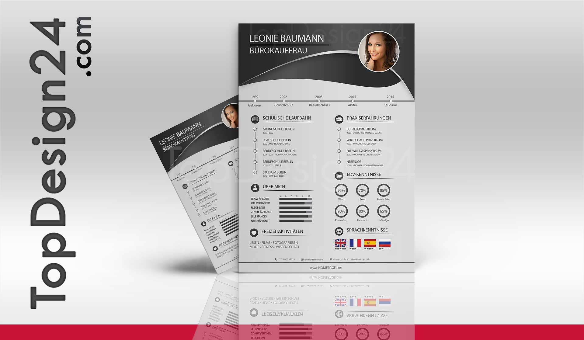 Deckblatt Bewerbung Mediendesigner
